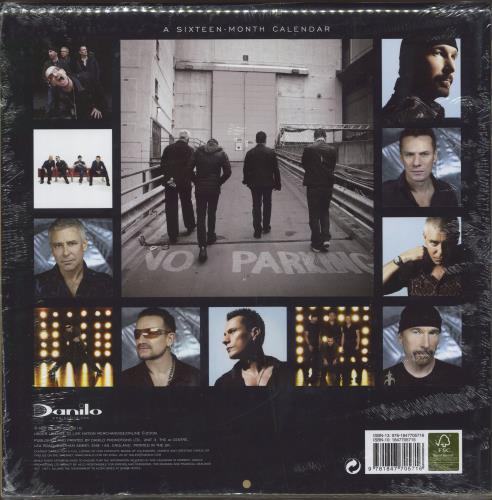 U2 Official Calendar 2010 calendar UK U-2CAOF476763