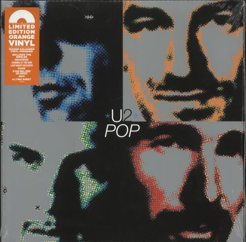 U2 Pop - 180gm Orange Vinyl - Sealed 2-LP vinyl record set (Double Album) UK U-22LPO732449