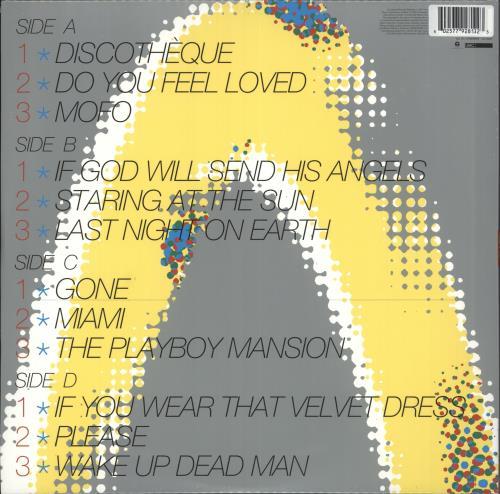 U2 Pop - 180gm Orange Vinyl 2-LP vinyl record set (Double Album) UK U-22LPO732449