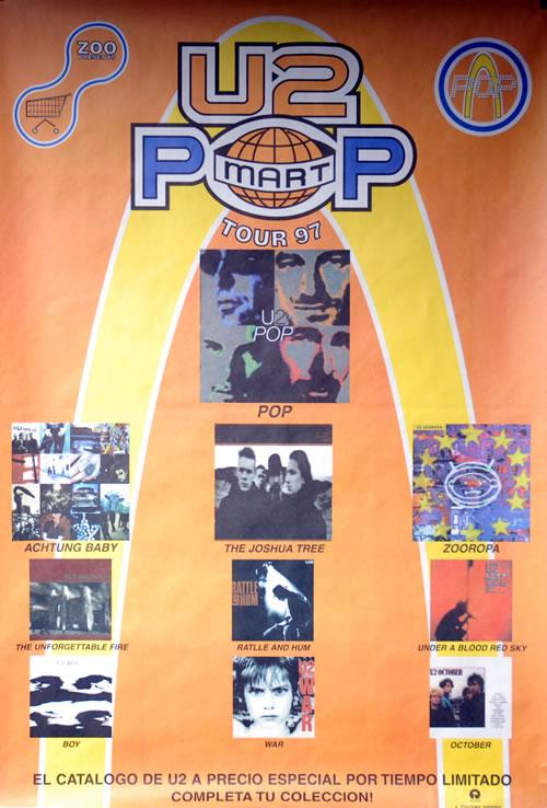 U2 Pop Mart Tour '97 poster Mexican U-2POPO141773