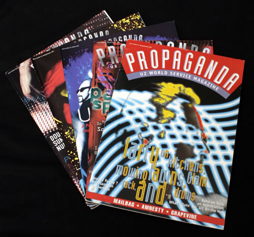 U2 Propaganda - Set of 5 Issues fanzine UK U-2FAPR546452