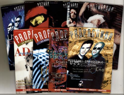 U2 Propaganda Magazine - 16 issues Irish fanzine (215179