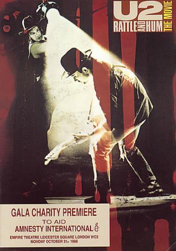 U2 Rattle And Hum - The Movie press book UK U-2PBRA210462