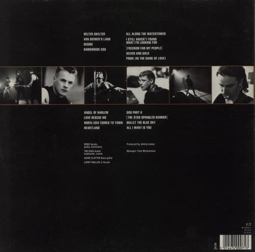 U2 Rattle And Hum - VG 2-LP vinyl record set (Double Album) UK U-22LRA759147