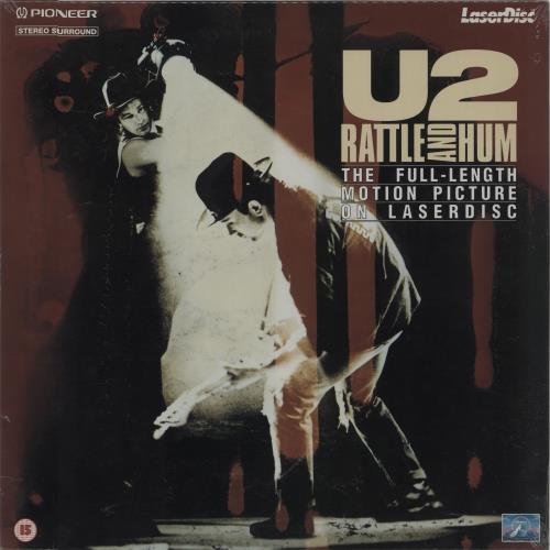 U2 Rattle And Hum laserdisc / lazerdisc UK U-2LZRA205825