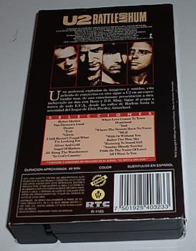 U2 Rattle And Hum video (VHS or PAL or NTSC) Mexican U-2VIRA258766