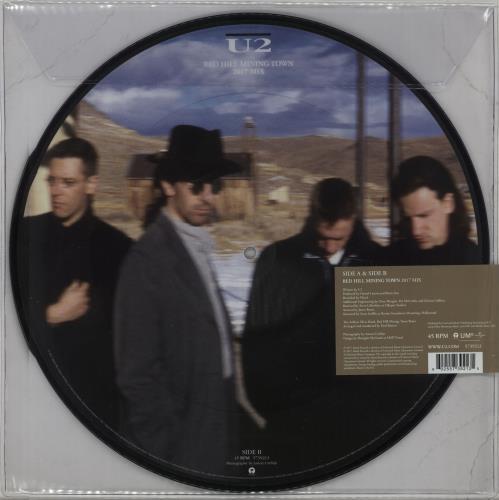 "U2 Red Hill Mining Town (2017 Mix) - RSD17 12"" vinyl picture disc 12inch picture disc record UK U-22PRE671650"