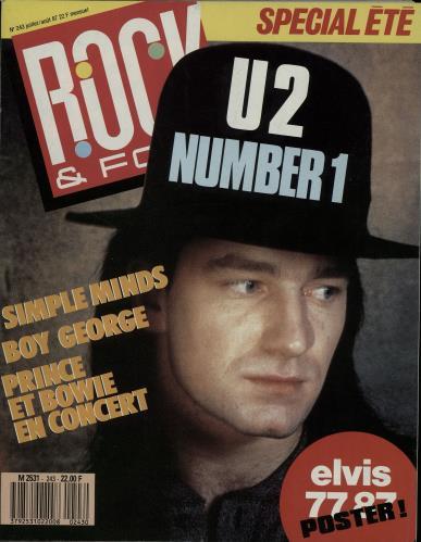 U2 Rock & Folk magazine UK U-2MARO646258