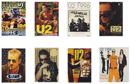 U2 Set Of Calendars - 1994-2000 calendar UK U-2CASE433144