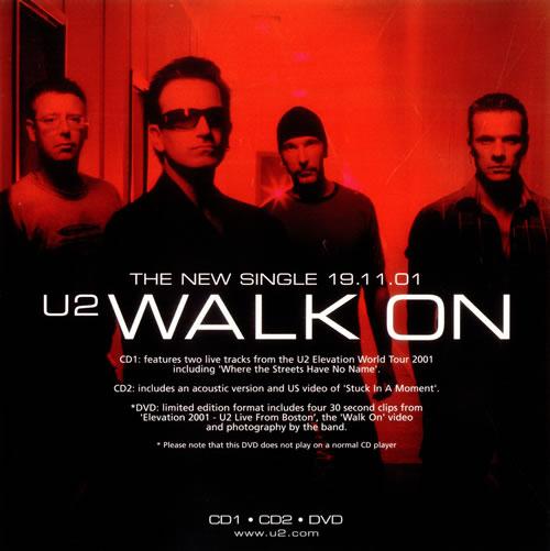 U2 Set Of Two Instore Display Flats - Walk On display UK U-2DISE532519