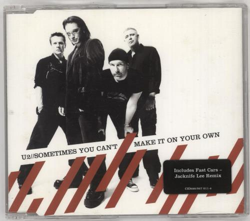 """U2 Sometimes You Can't Make It On Your Own CD single (CD5 / 5"""") UK U-2C5SO728168"""