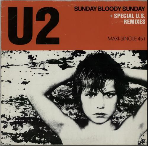 "U2 Sunday Bloody Sunday - 2nd - EX 12"" vinyl single (12 inch record / Maxi-single) German U-212SU644336"