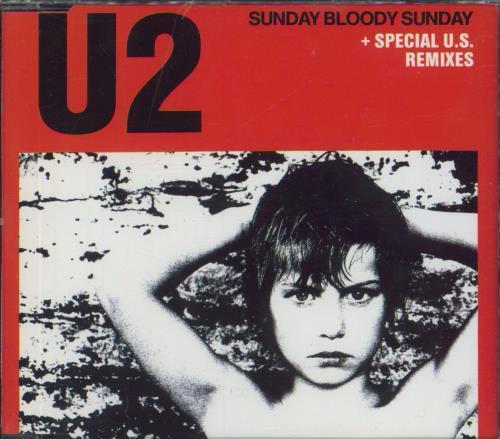 "U2 Sunday Bloody Sunday CD single (CD5 / 5"") Austrian U-2C5SU01879"