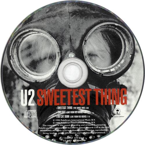 "U2 Sweetest Thing CD single (CD5 / 5"") UK U-2C5SW164121"