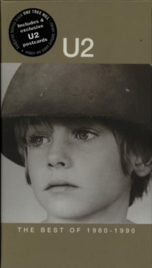 U2 The Best Of 1980 - 1990 + Postcards video (VHS or PAL or NTSC) UK U-2VITH173845
