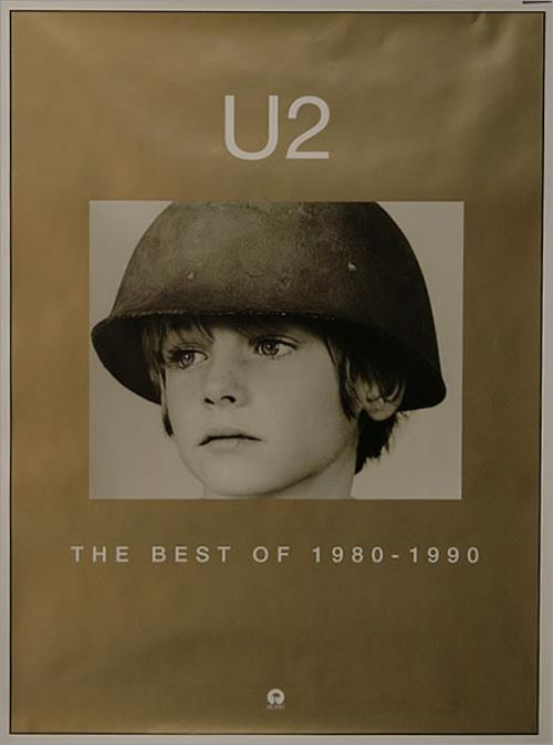 "U2 The Best Of 1980-1990 - 20"" x 28"" poster UK U-2POTH144846"