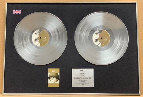 U2 The Best Of 1980-1990 - Presented to Bono award disc UK U-2AWTH761012