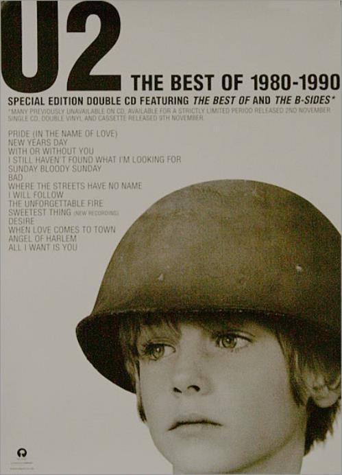 U2 The Best Of 1980-1990 Poster poster UK U-2POTH510464