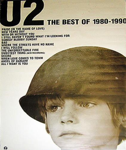U2 The Best Of 1980-1990 poster UK U-2POTH380433
