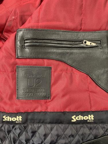 U2 The Best Of 1990-2000 - Schott N.Y.C. jacket UK U-2JATH760941