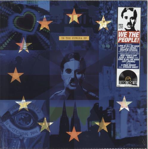 "U2 The Europa EP - RSD19 - 180gm Vinyl - Sealed 12"" vinyl single (12 inch record / Maxi-single) UK U-212TH718430"