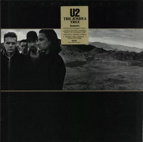 U2 The Joshua Tree + insert vinyl LP album (LP record) Australian U-2LPTH114394