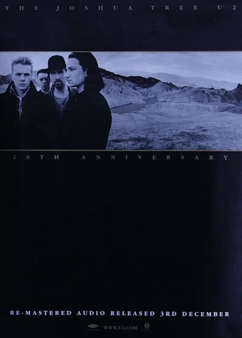 U2 The Joshua Tree - 20th Anniversary poster UK U-2POTH527832