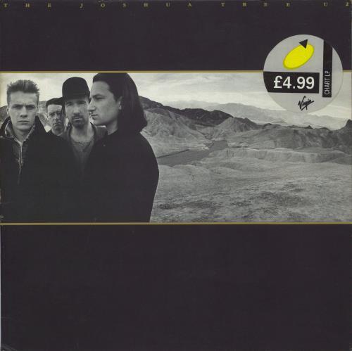 U2 The Joshua Tree - EX + insert vinyl LP album (LP record) UK U-2LPTH318827