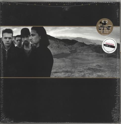 U2 The Joshua Tree - Gold Vinyl - Sealed UK 2-LP vinyl