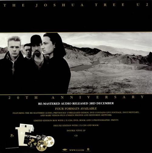 U2 The Joshua Tree 20th Anniversary - Display Flat display UK U-2DITH486214