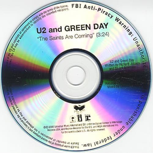 U2 The Saints Are Coming CD-R acetate US U-2CRTH380364