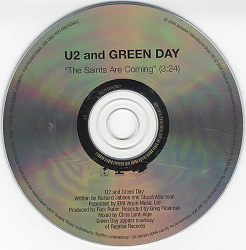 "U2 The Saints Are Coming CD single (CD5 / 5"") UK U-2C5TH382464"