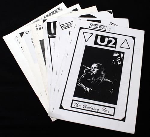 U2 The Undying Fire - 7 Issues fanzine UK U-2FATH546525