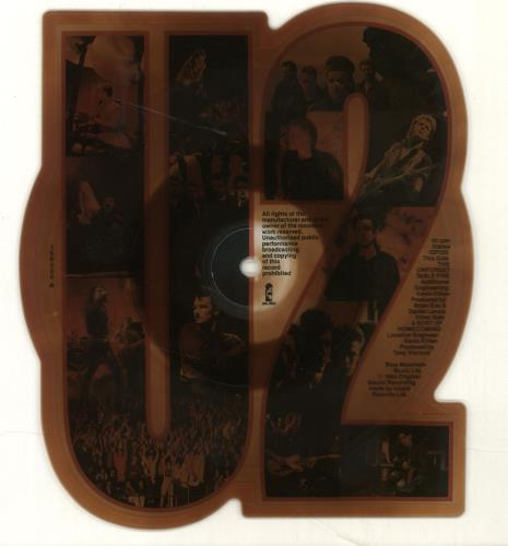 U2 The Unforgettable Fire - Tea-Stained shaped picture disc (picture disc vinyl record) UK U-2SHTH229481