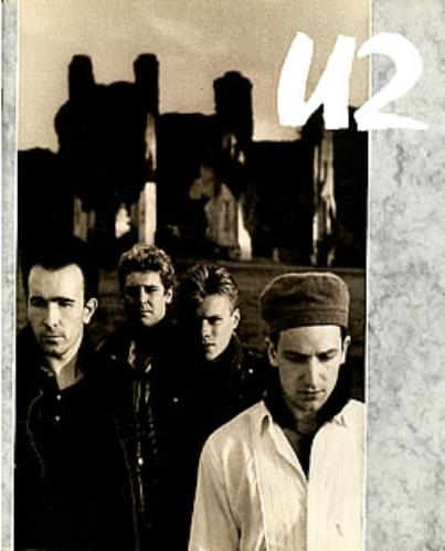 U2 The Unforgettable Fire World Tour - White tour programme UK U-2TRTH176380