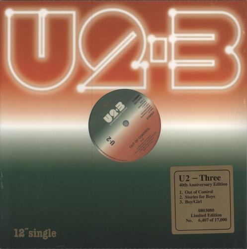 "U2 Three EP - RSD BF19 - 180gm Vinyl - Numbered - Sealed 12"" vinyl single (12 inch record / Maxi-single) UK U-212TH734476"