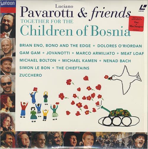 U2 Together For The Children Of Bosnia laserdisc / lazerdisc US U-2LZTO433143