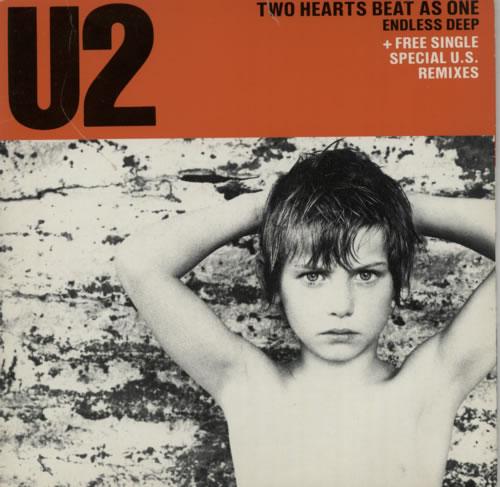 "U2 Two Hearts Beat As One - EX 7"" vinyl single (7 inch record) UK U-207TW586153"