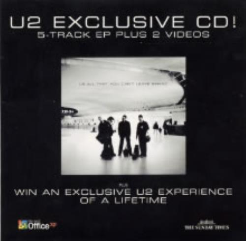 "U2 U2 Exclusive CD with Times Magazine CD single (CD5 / 5"") UK U-2C5UE189672"