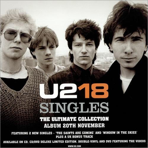 U2 U218 Singles - Set Of 2 Display Flats and a Bag display UK U-2DIUS486201