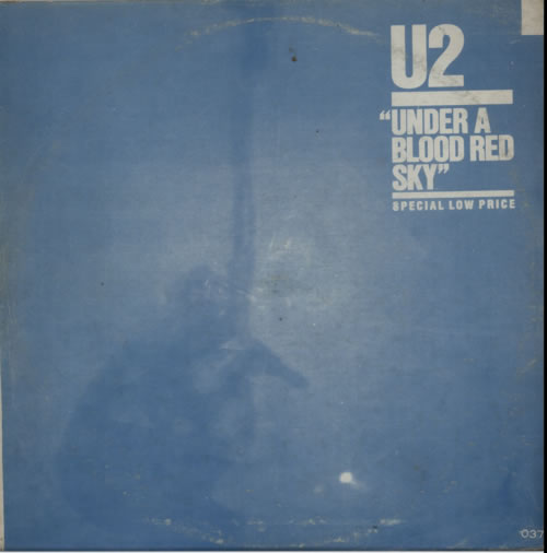 U2 Under A Blood Red Sky - Blue Sleeve Korean vinyl LP album