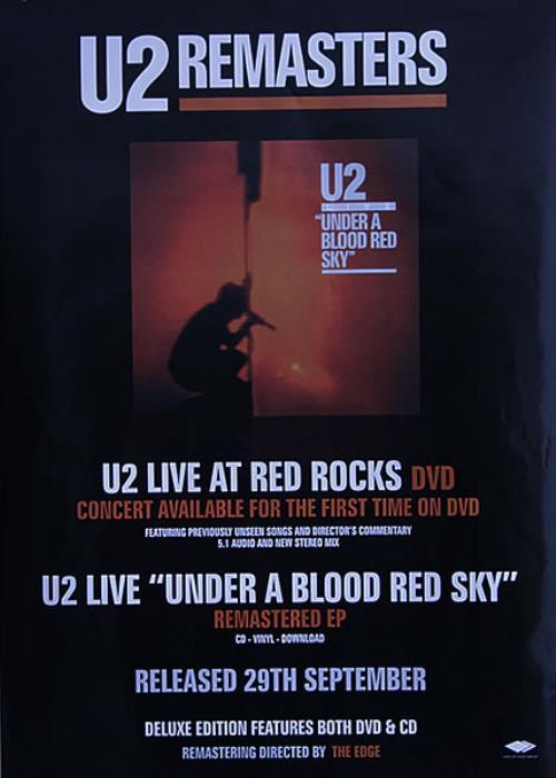 U2 Under A Blood Red Sky - Remastered poster UK U-2POUN527839