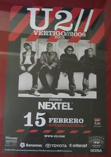 U2 Vertigo 2006 Tour poster Mexican U-2POVE348257
