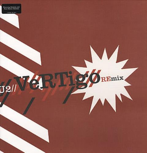 "U2 Vertigo REmix + Sticker 12"" vinyl single (12 inch record / Maxi-single) UK U-212VE318598"