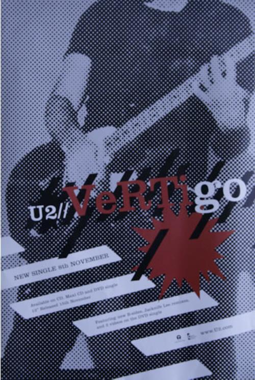 U2 Vertigo poster UK U-2POVE527828