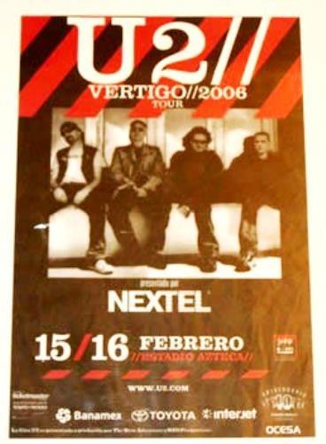 U2 Vertigo//2006 Tour - Estadio Azteca poster Mexican U-2POVE354333