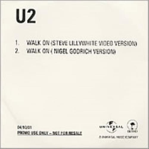 U2 Walk On CD-R acetate UK U-2CRWA199072