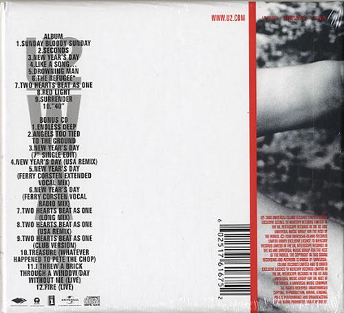 U2 War - Sealed UK 2 CD album set (Double CD) (438248)