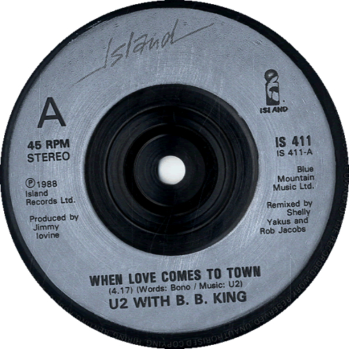 "U2 When Love Comes To Town - Injection 7"" vinyl single (7 inch record) UK U-207WH601988"