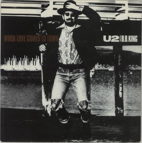 """U2 When Love Comes To Town 7"""" vinyl single (7 inch record) UK U-207WH18640"""